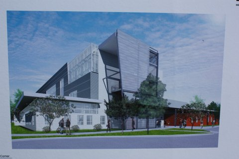 Rendering of the West Houston Institute.