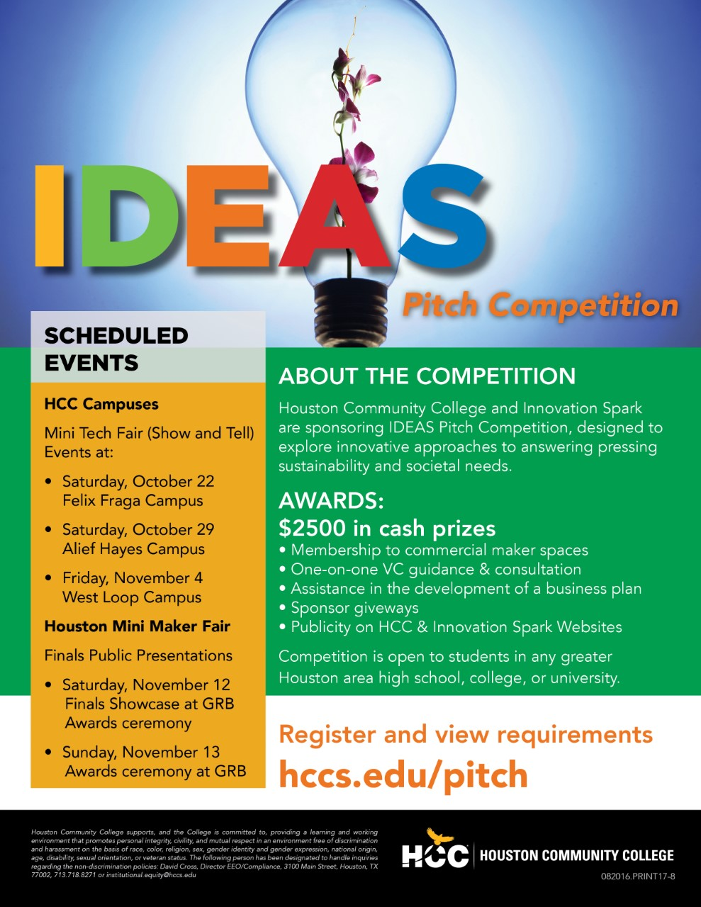mini tech fair show & tell event – ideas pitch competition too
