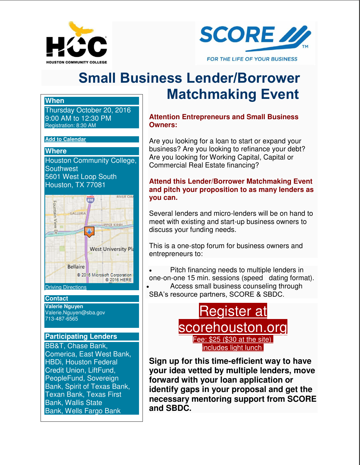 Business Loan Matchmaking