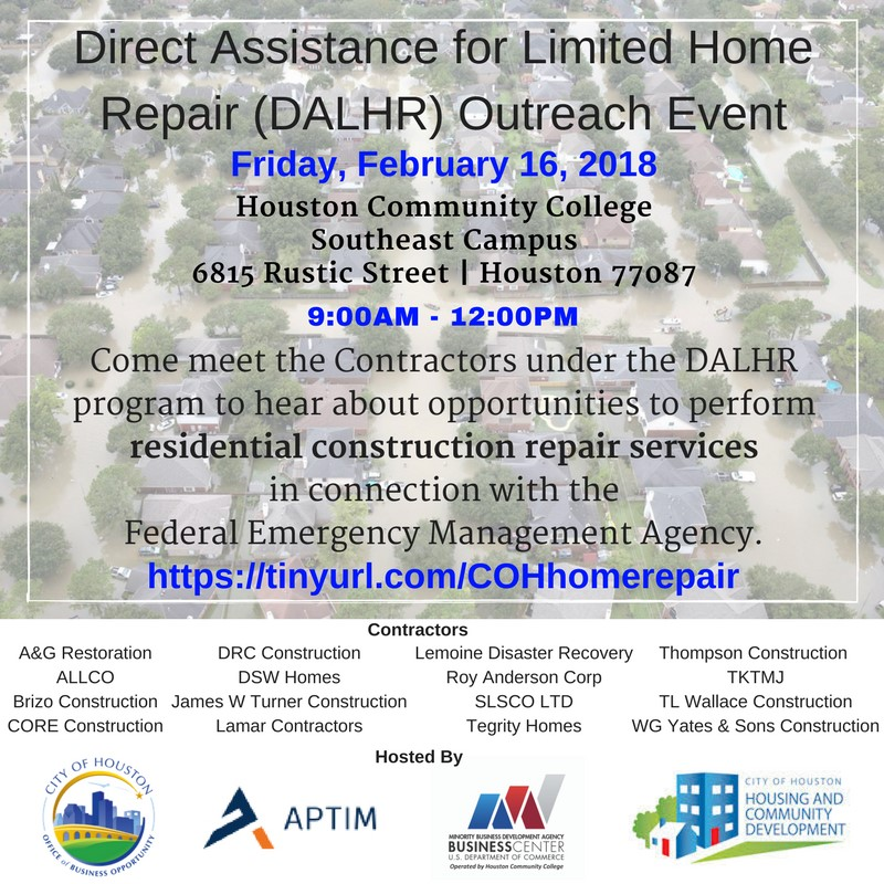 Direct Assistance for Limited Home Repair Outreach Event